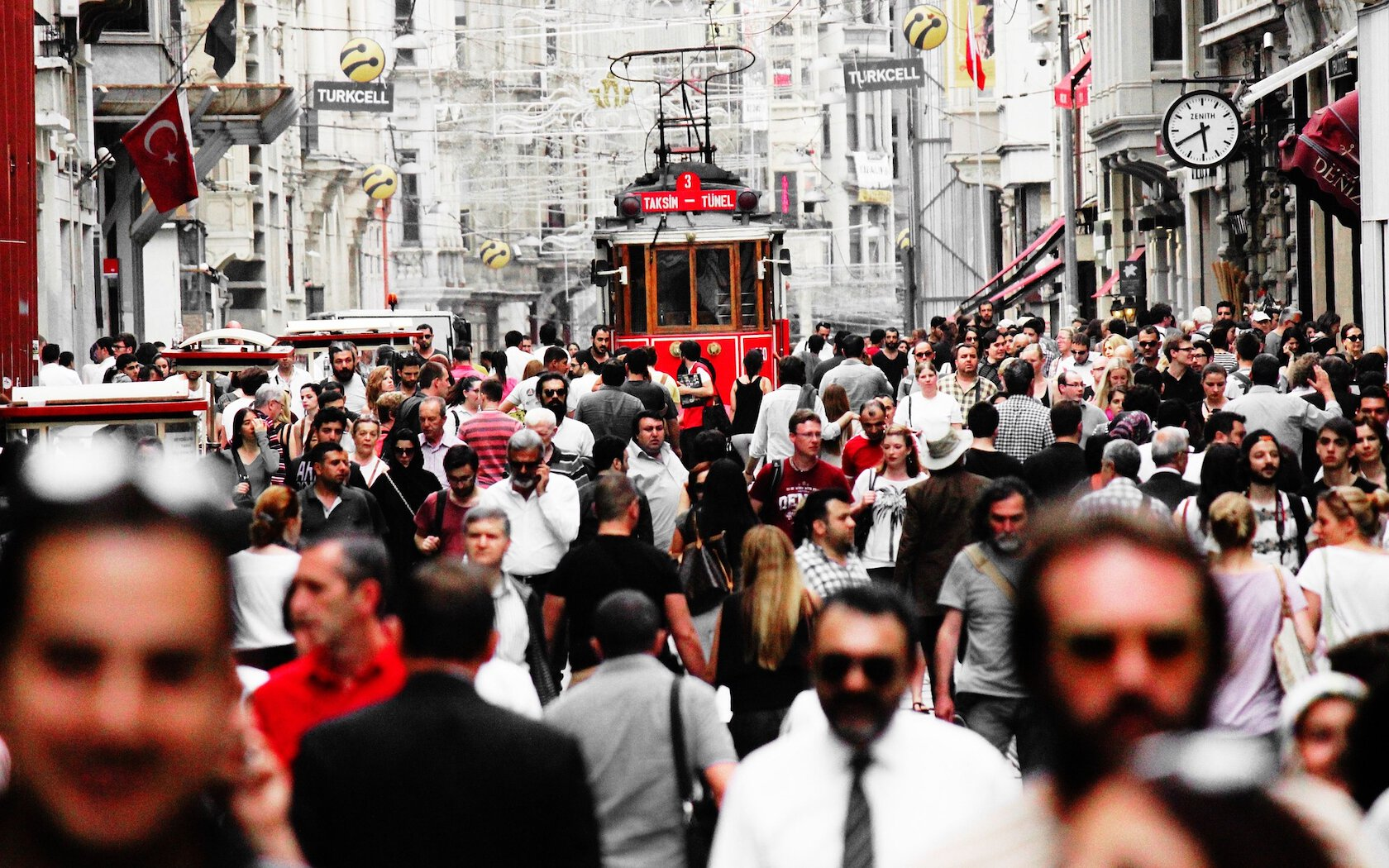 People in Istiklal Street, Istanbul